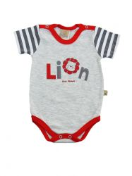 Bory Manga Curta Para Bebê Lion  20530