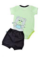 Conjunto Urso Verde - Bicho Molhado 20510