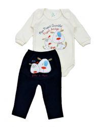 Pijama bebê Pai e Filho Marinho