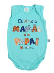 Body Bebê Regata - Eu Amo a  Mamãe