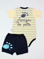 Conjunto Amigos - Body e shorts