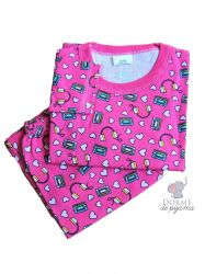 Pijama Infantil Tam 2 Manga Longa Feminino