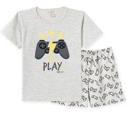 Pijama  Infantil Manga Curta - Play