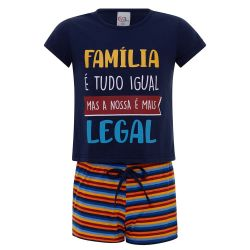 Pijama  Infantil  Família Legal - Feminino