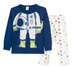 Pijama  Infantil  Manga Longa Astrodino