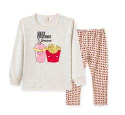 Pijama Infantil Manga Longa Menina  - Batata Frita
