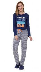 Pijama   Manga Longa  - Familia Legal